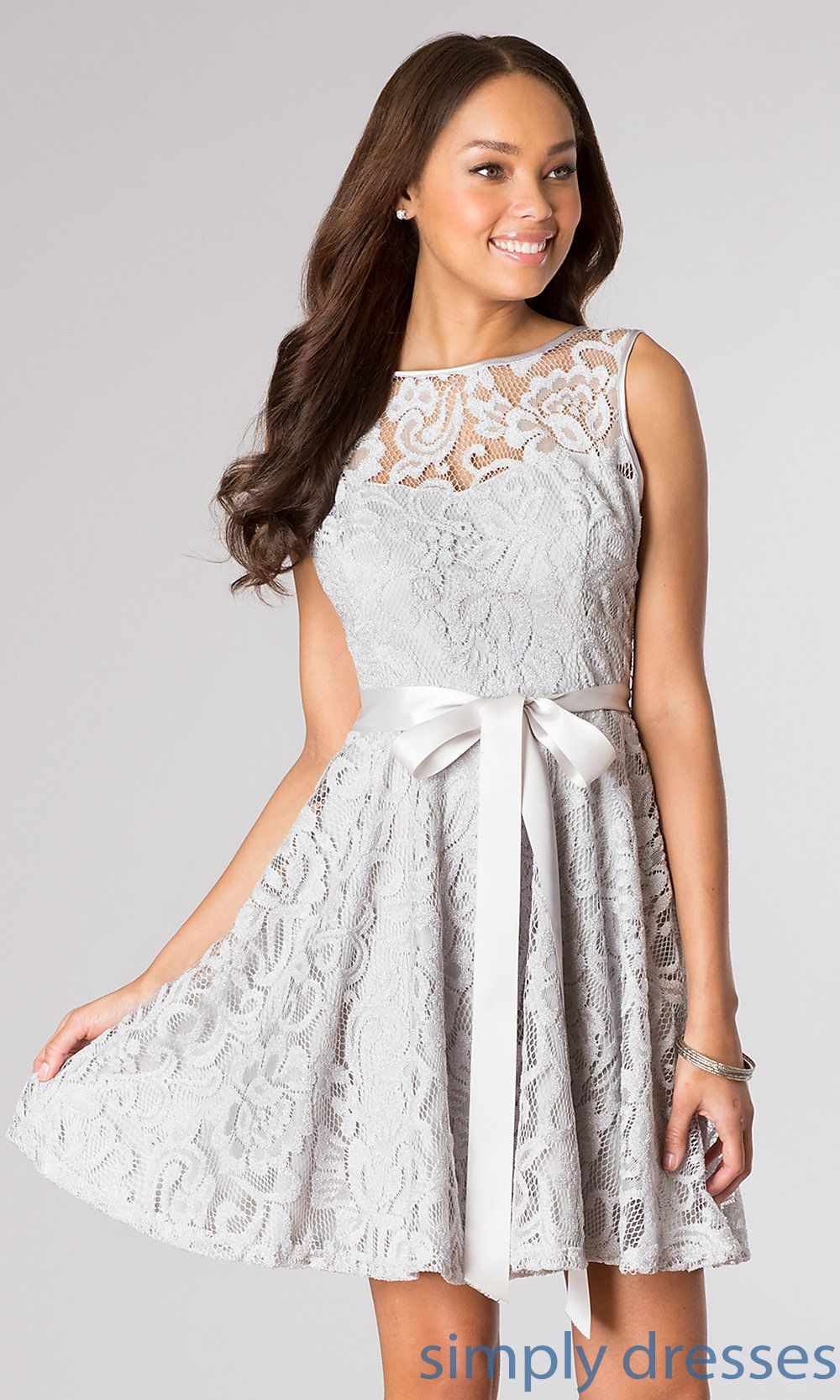 Short sleeveless lace dress by sally fashion quince
