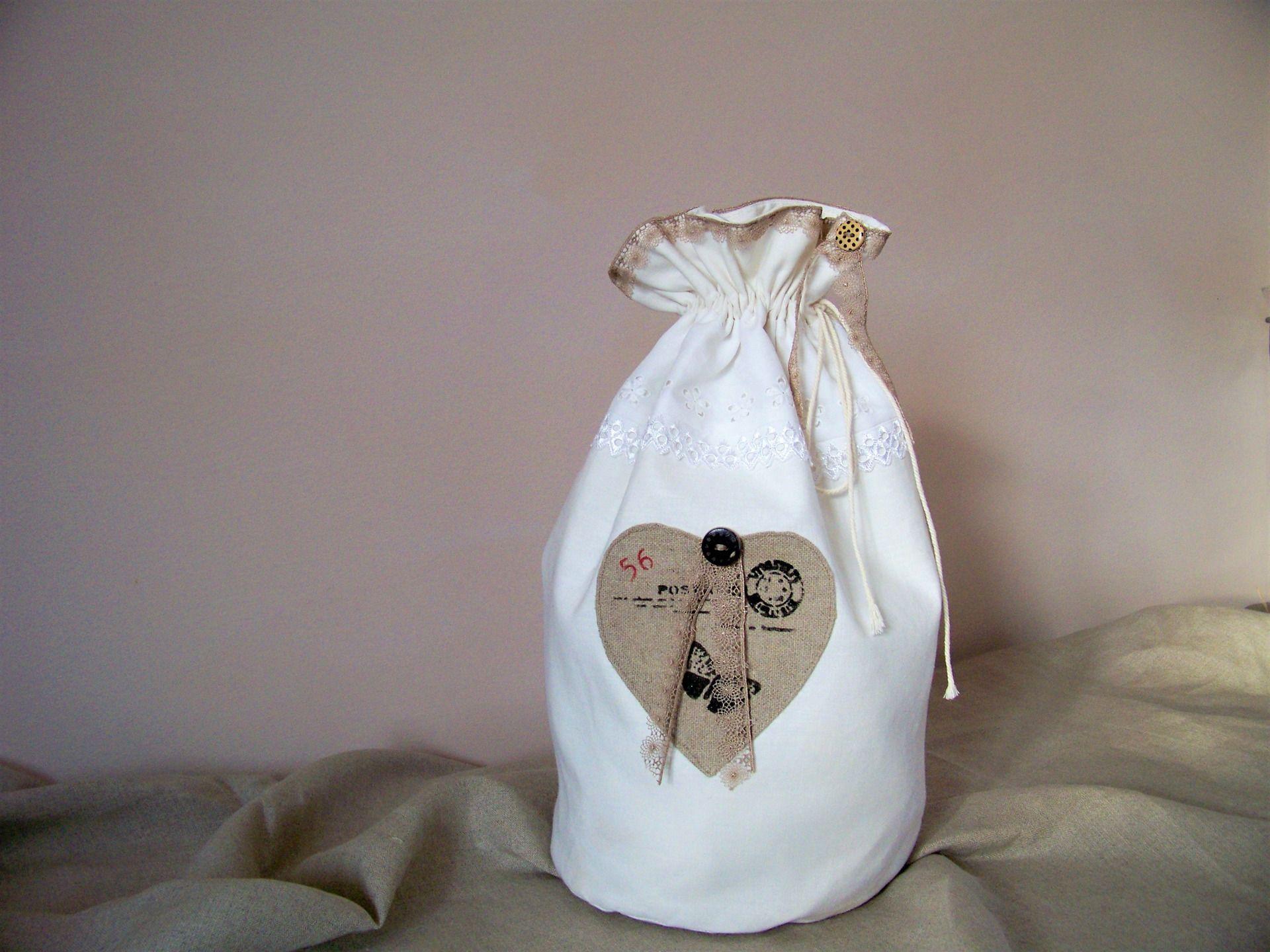 sac-pochon-sac à lingerie-sac à pain-rangement-décoration salle de ...