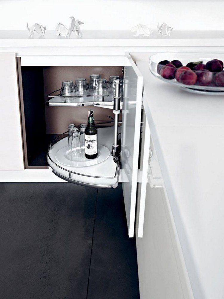 Meuble d\'angle cuisine moderne et rangements rotatifs en 35 photos ...