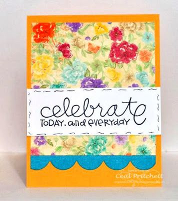 Loves Rubberstamps Blog - Design Team Member Ceal Pritchett using Paper Smooches ~ pretty