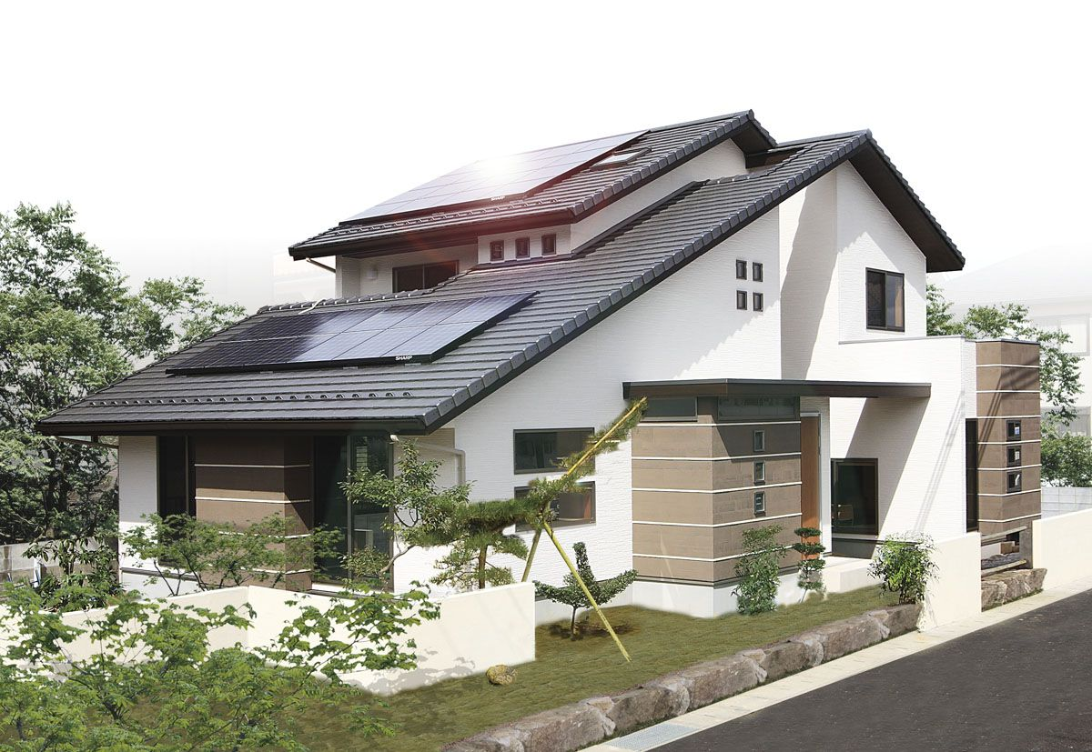 Another modern Japanese suburban style home.