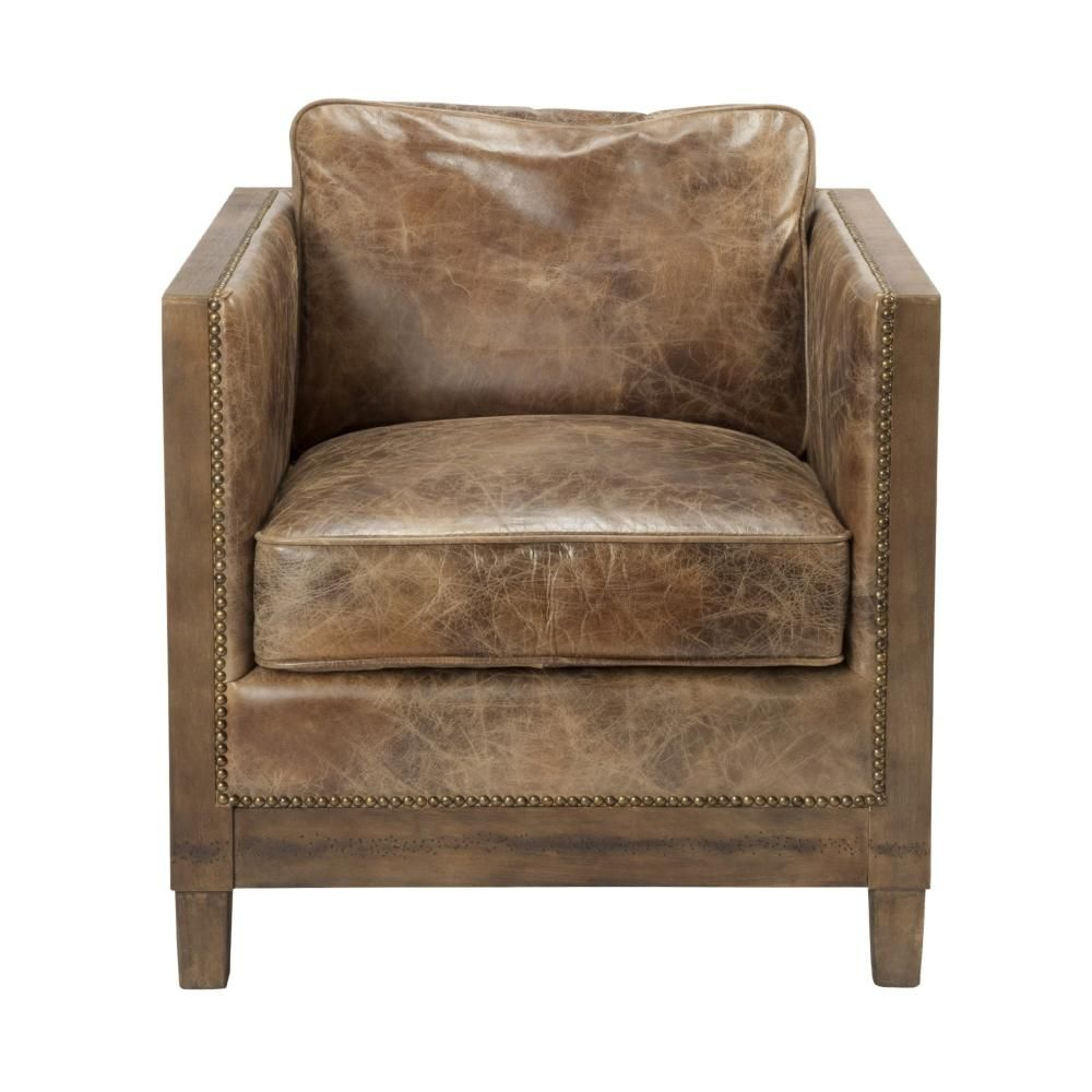 Modern Room Furniture Moeu0027s Home Collection Darlington Leather Club Chair
