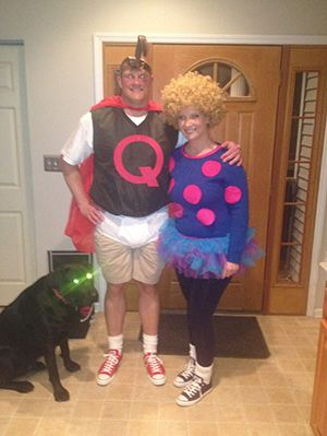 15 Fun, Unique DIY Halloween Cartoon Couples Costume Ideas ... Quailman Doug Costume
