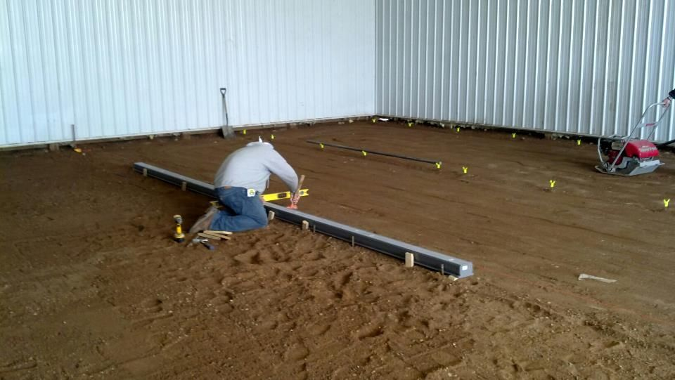 Installing A 12 Channel Drain 4 Sections Concrete Sheds Shed Floor Outdoor Power Equipment