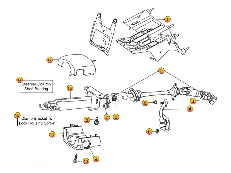jeep liberty steering column parts