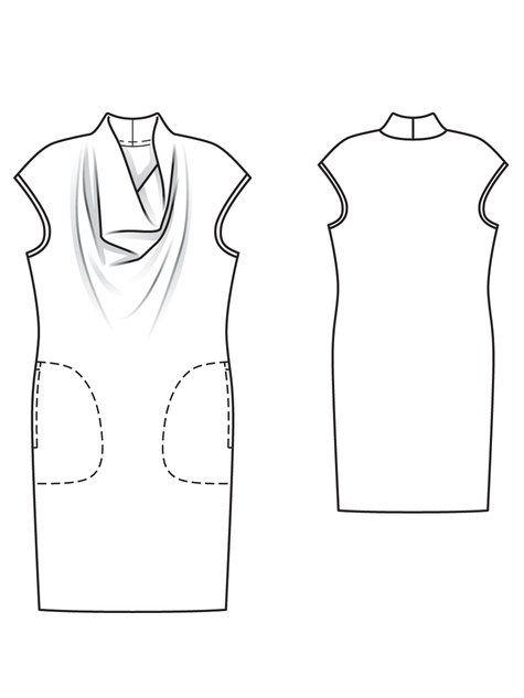 Waterfall Dress 08/2011 #116 | Schnittmuster, Nähen und Kleidung nähen
