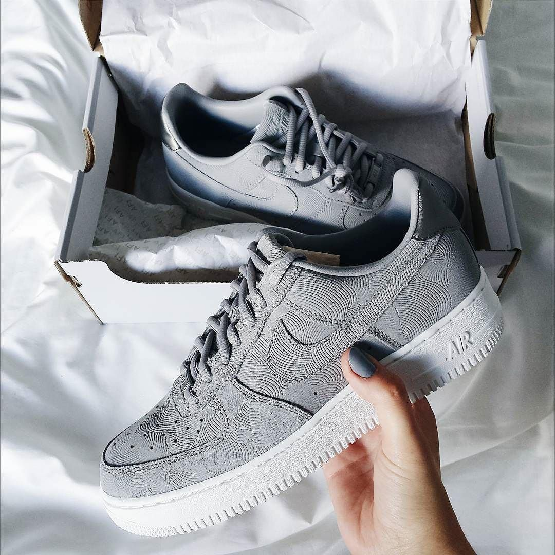 air force one grise femme daim