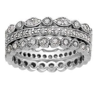 Luxe Antique Eternity Diamond Ring Stack (over 1 ct.tw.)  From Brilliant Earth a Free Trade source for diamonds.