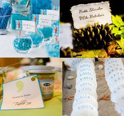 Wedding Place Cards bottom left picture is along the lines of