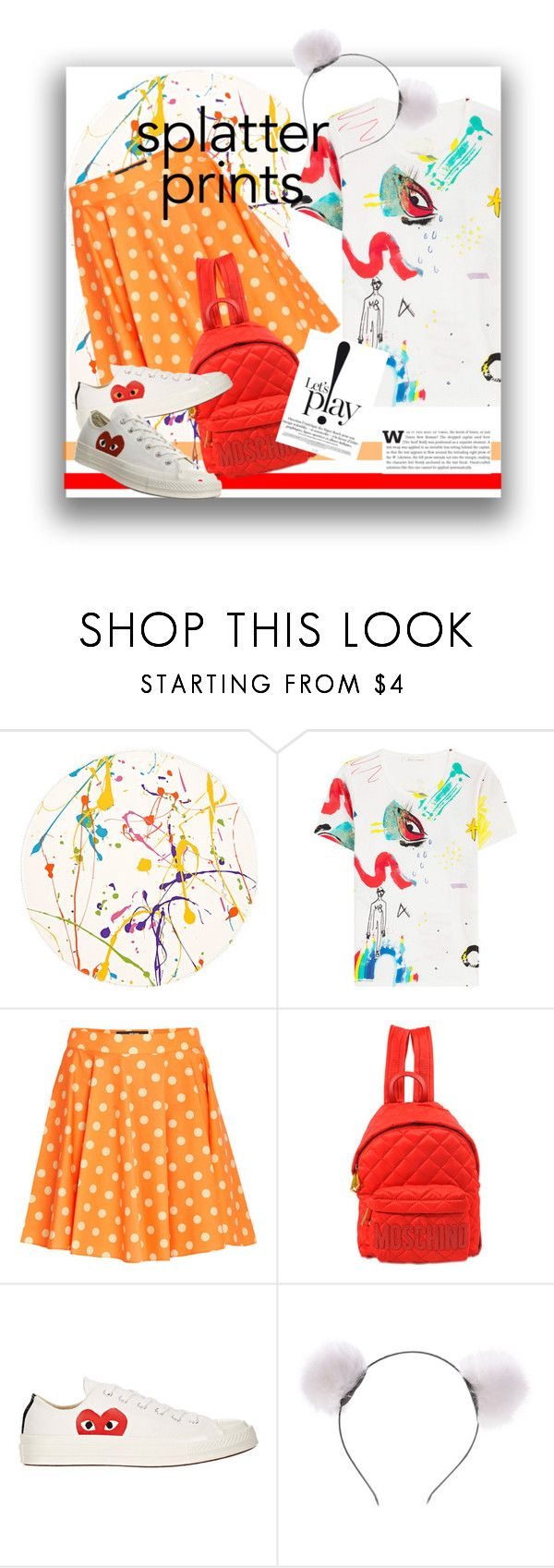 """""""Lets play!"""" by atie-212 ❤ liked on Polyvore featuring Lisa Perry, Marc Jacobs, Jeremy Scott, Moschino, Play Comme des Garçons and Comme des Garçons"""