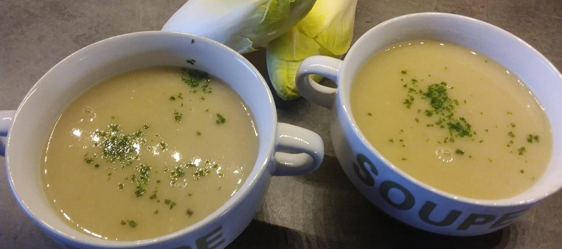 Une belle soupe d'hiver, dont l'endive est le légume star ...