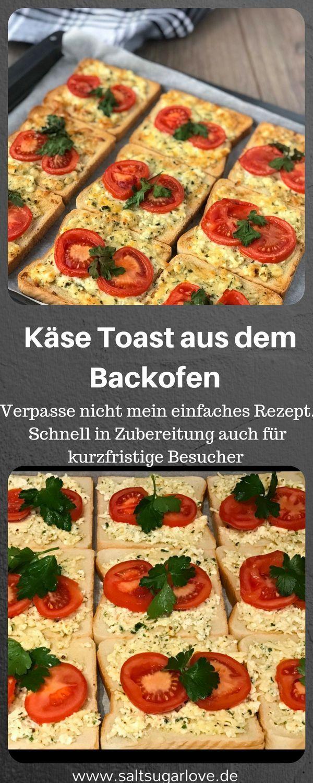 Käse Toast aus dem Backofen - SaltSugarLove