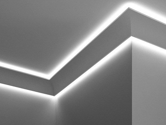 Download The Catalogue And Request Prices Of Double Cove Lighting Cornice By Eleni Linear Ceiling Light Design Cove Lighting Ceiling Lighting Design Interior