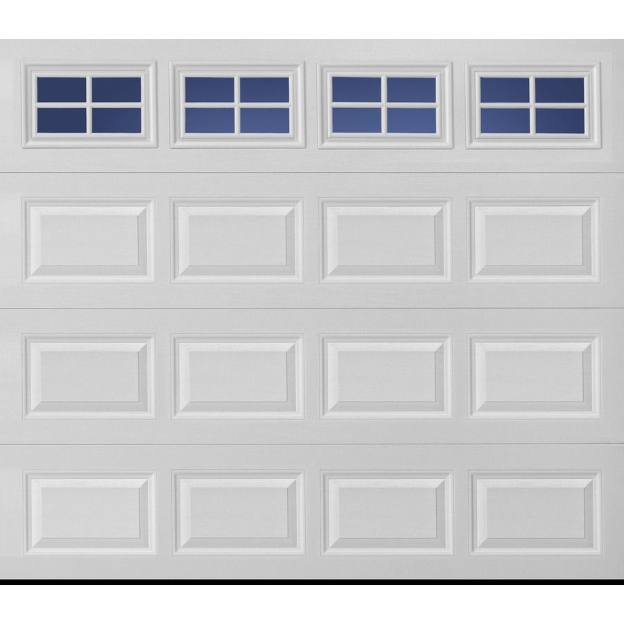 Pella Traditional 108 In X 84 In Insulated White Single Garage Door With Windows Lowes Com Single Garage Door Garage Door Installation White Garage Doors