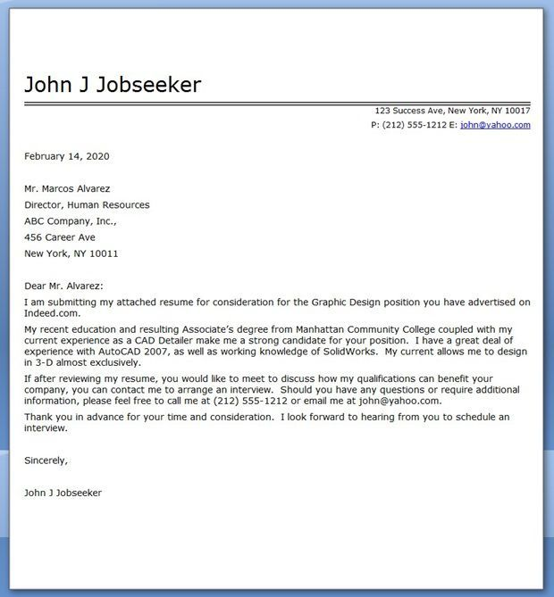 cover letter pdf sample - Sample Resume And Cover Letter Pdf