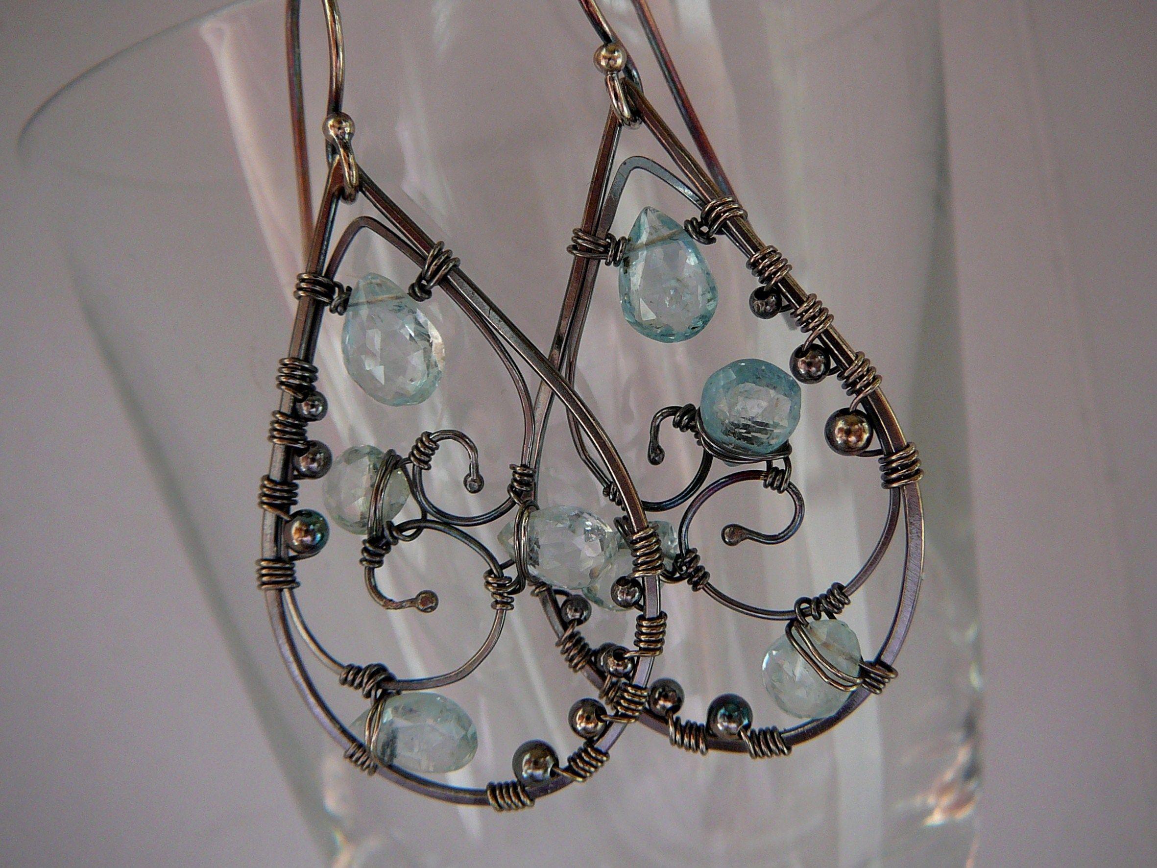 double wire earrings   Earrings 3   Pinterest   Wire earrings, Beads ...