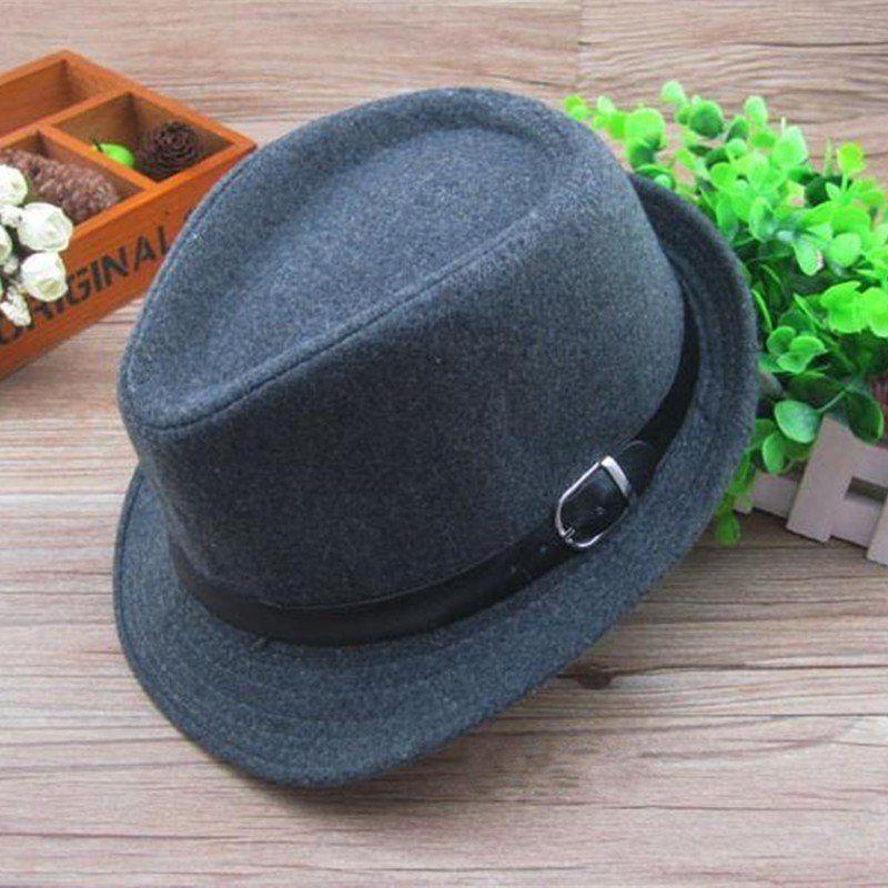 f3910011c3d5e Kids Boys Girls Trilby Jazz Cap Wool Blend Snap Brim Flat Top Fedora Hats