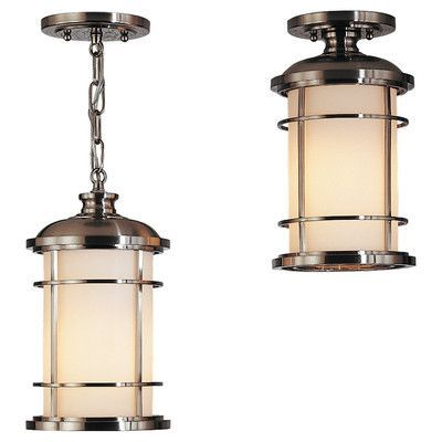 Feiss Lighthouse 1 Light Outdoor Hanging Lantern Finish: B