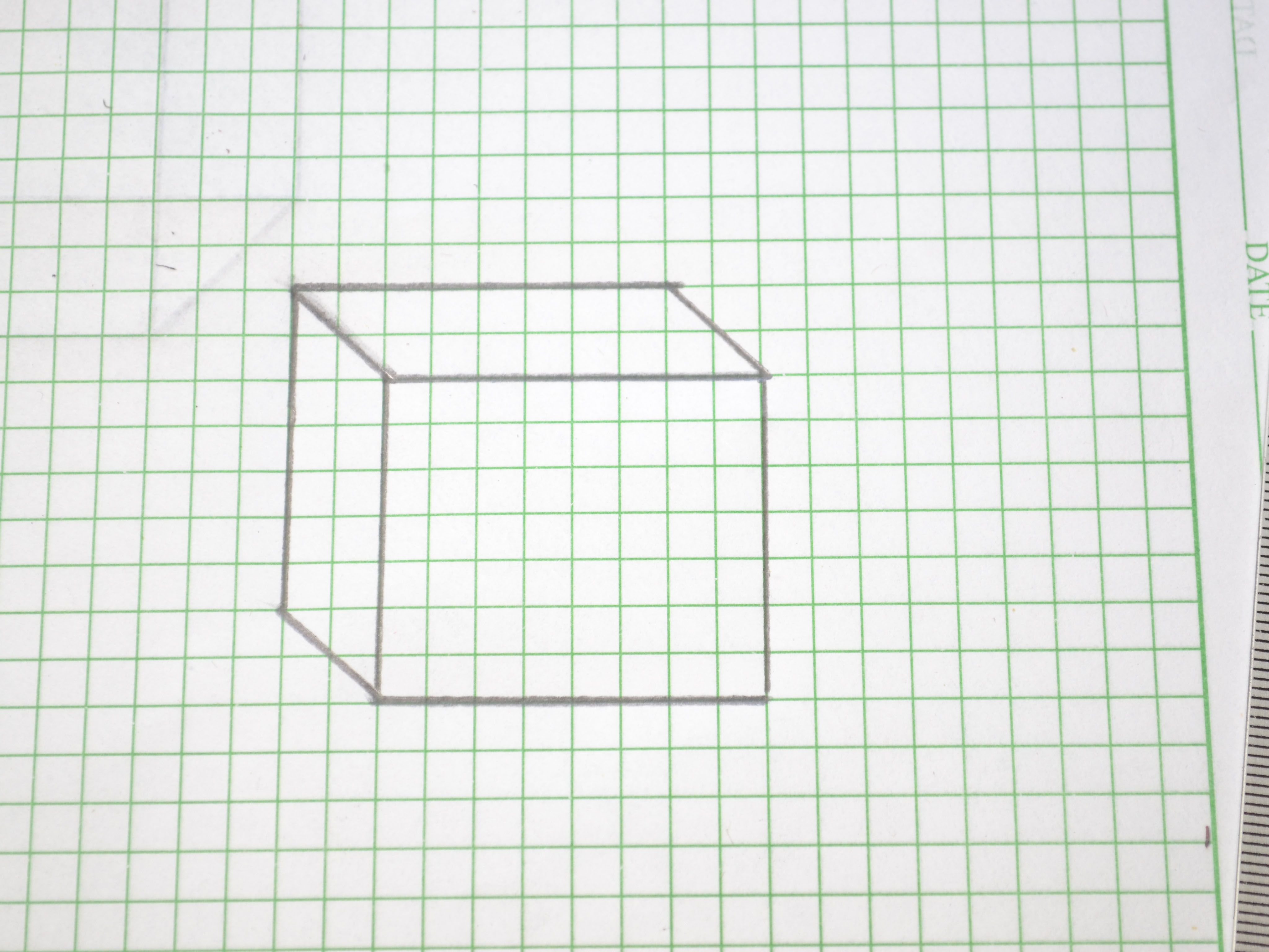 Draw A D Box  Graph Paper D And Drawings