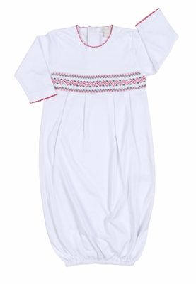 Kissy Kissy Baby Boys / Girls White Holiday Sack Gown - Smocked in ...