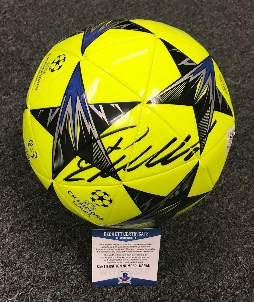 Cristiano Ronaldo Signed Adidas Green Soccer Ball AUTO Beckett BAS  WITNESSED COA c53f59a2e1949