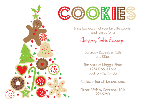 Christmas Cookie Exchange Invitation Wording Christmas Pinterest