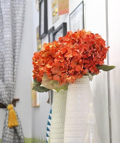 How to Paint a Striped Accent Wall | Fake flowers, Dollar store ...