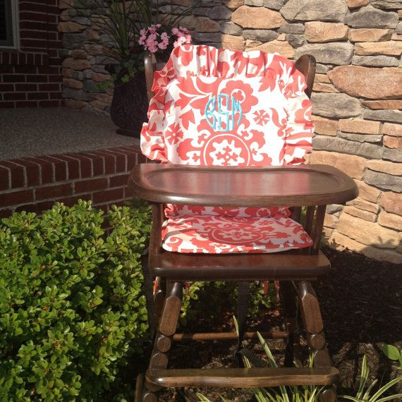 Pattern Pads High Wooden Chair High Chair