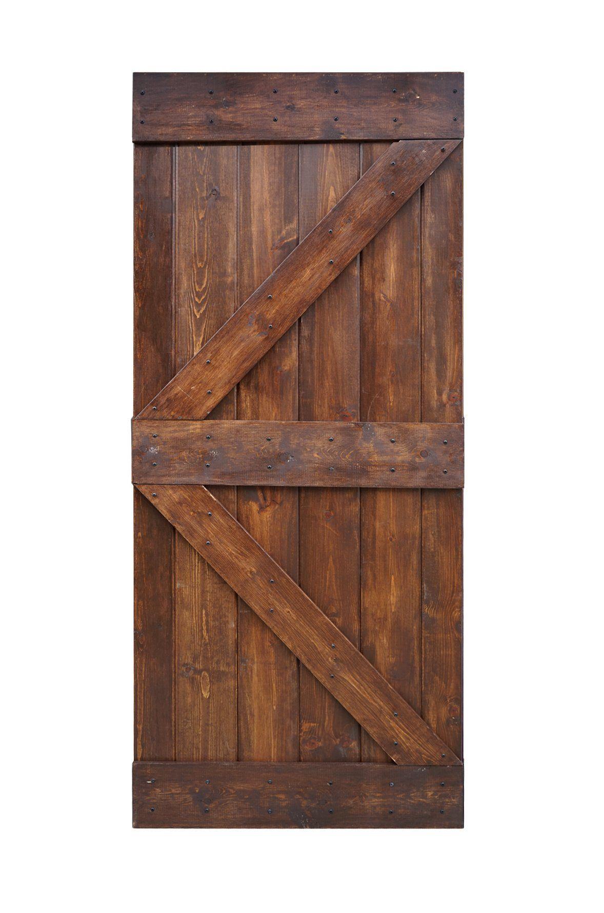 Wellhome 36inx84in K Series Diy Knotty Pine Sliding Barn Door Slab Dark Walnut Paid Link Be Sure Wood Barn Door Interior Sliding Barn Doors Rustic Doors