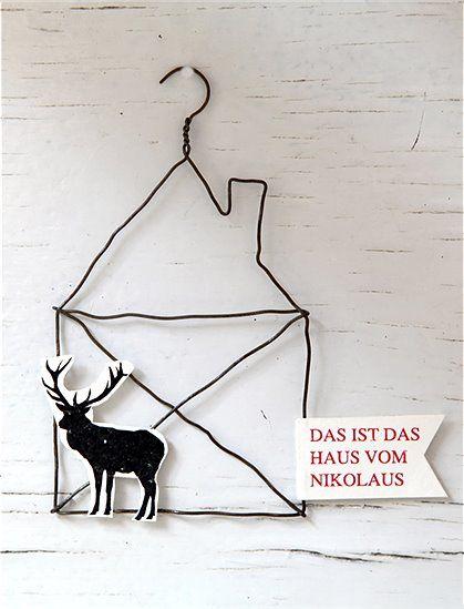Drahtanhänger Weihnachten m Text