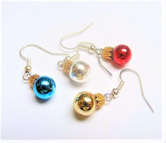 Food Jewelry Christmas Bauble Earrings