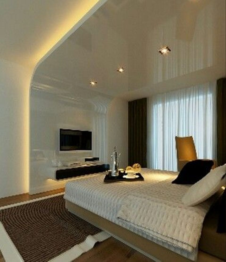 Glowing Ceiling Designs With Hidden LED Lighting Fixtures - Interior lighting design for living room