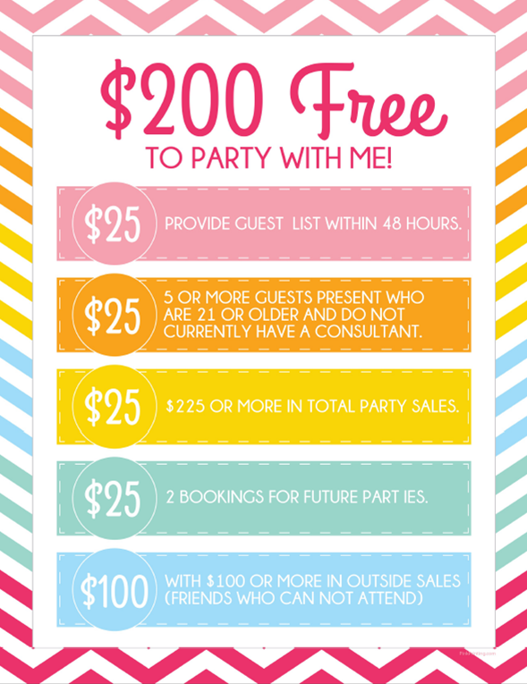 "Mary Kay Hostess Packet | NEW ""$200 Free to Party with Me!"" Hostess Plan Download"