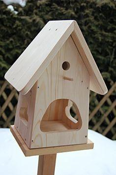 Dekorativer Vogelfutterhaus Zum Selbst Bauen Bausatz Vogelhaus Vogelhäuschen Sauberste  Verarbeitung Vogelhaus Garten Deko (Woodworking Garden)