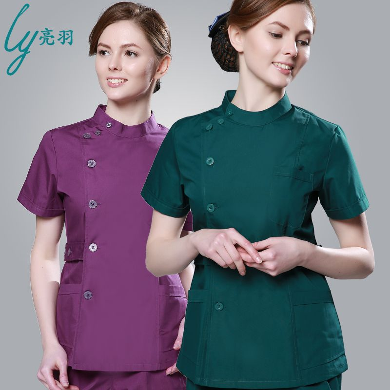 2016 summer women hospital medical scrub clothes set for Spa uniform design philippines