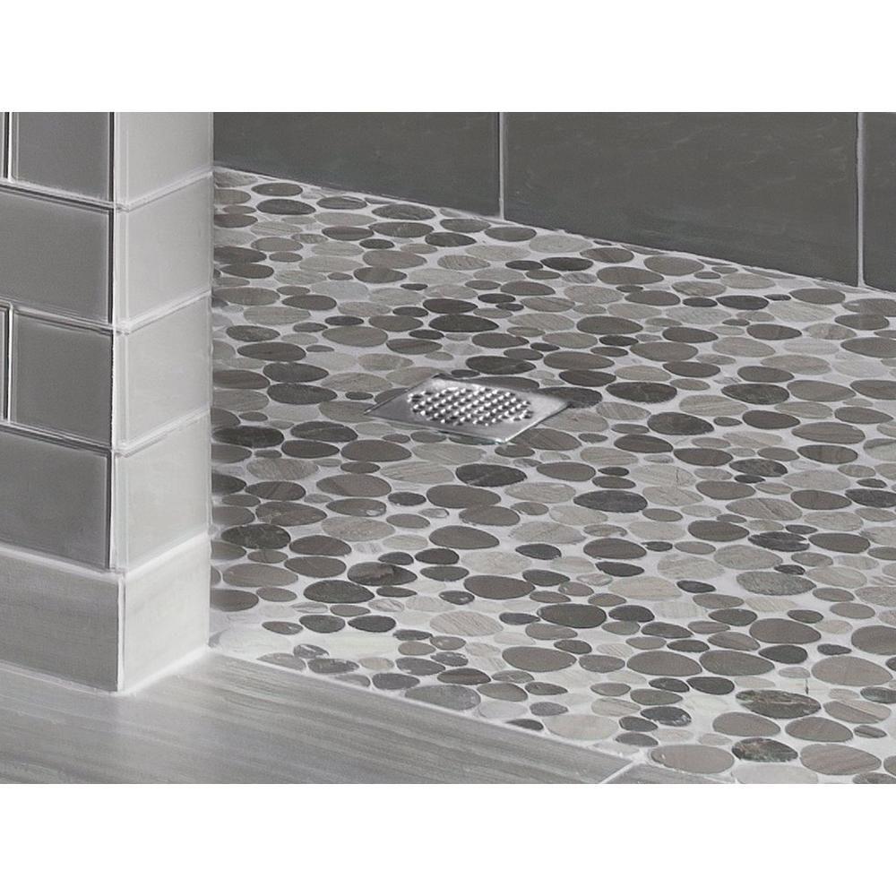 Maravilla Gubbio Honed Pebble Stone Marble Mosaic 12in X 931100666 Floor And Decor