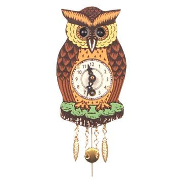 Owl Floresta Negra 4,5 polegadas de Relógio de Parede | Corujas ...