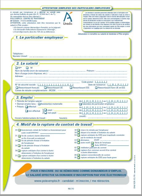 Attestation De Garde Parentale Paperblog Pole Emploi Attestation Lettres De L Alphabet Imprimables