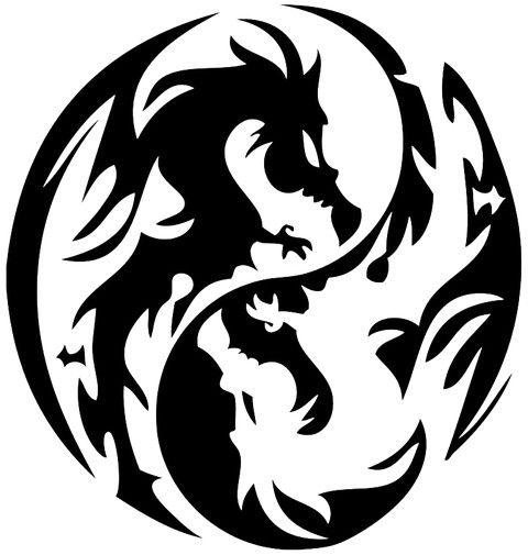 Ying Yang Dragons Tribal Dragon Tattoos Black Dragon Tattoo Dragon Tattoo Designs