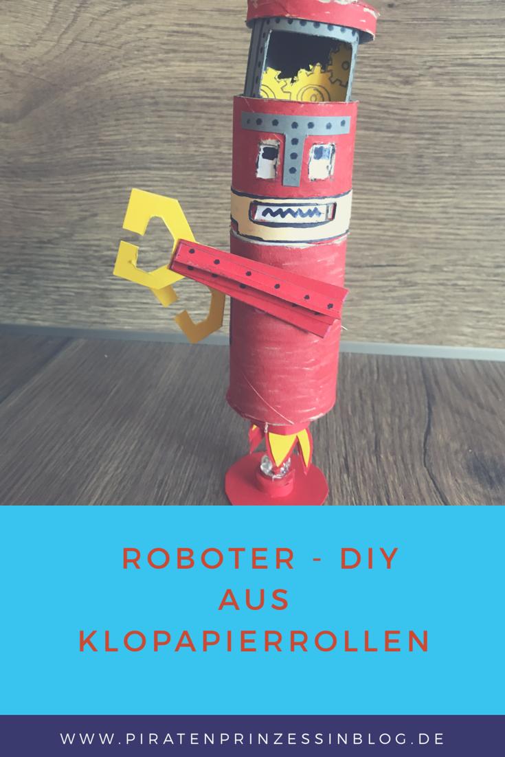 Schwebender Roboter Diy Aus Klopapierrollen Robot Diy Pinterest