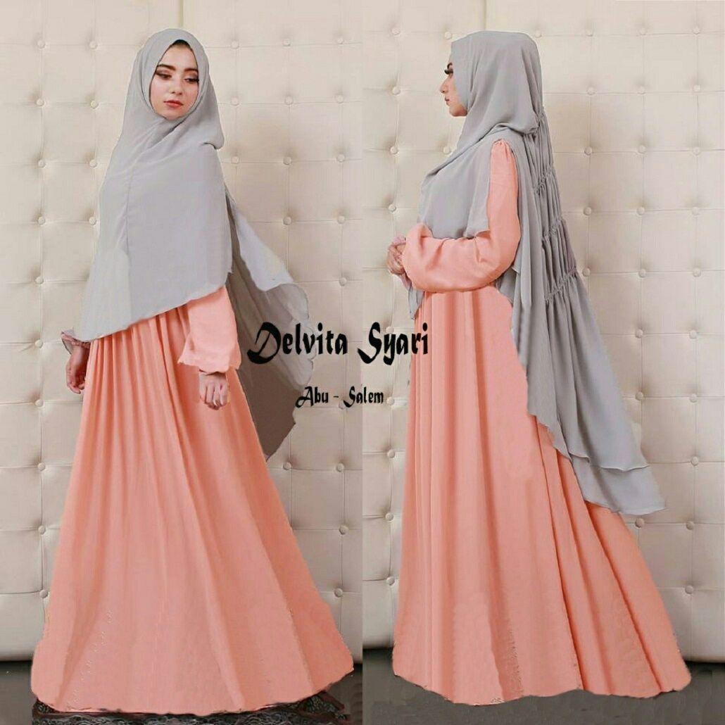 Pin By Asiah On Muslimah Fashion Hijab Styleniqab Pinterest Lady Fluer Premium Mewah Baju Muslim Gamis Syari Delvita Abu Salem Http