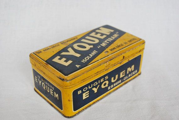 Tin Box Eyquem from the 1960s French Vintage by LaBeletteQuiFouine, €14.00
