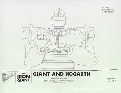 Geant De Fer The Iron Giant Character Model Sheet Concept Art