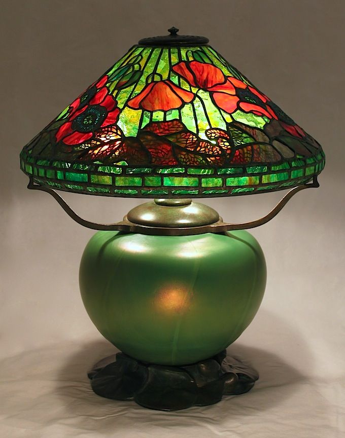 16 poppy on lily pad blown glass and bronze base created in 2013