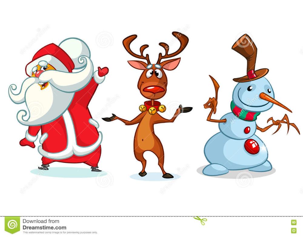 Personajes De Dibujos Animados De La Navidad Fijados Vector Dibujos Animados Navidenos Dibujos Animados Personajes Personajes De Navidad