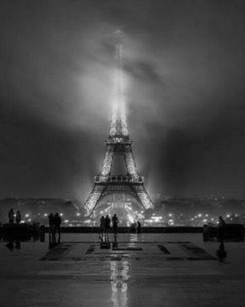 An evening at the Eiffel Tower.