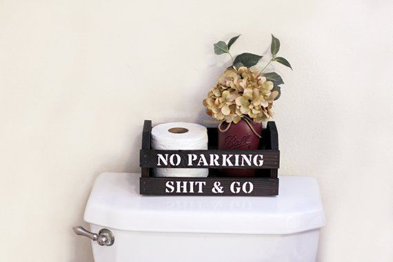 Toilet Paper Box, Funny Bathroom Signs, No Parking ...