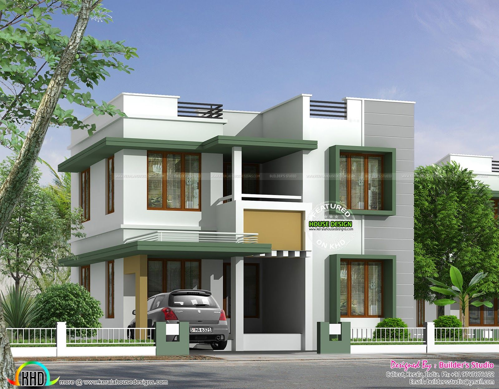 2 Bedroom House Designs House Design Square Feet Home Kerala Plans Pictureicon Beautiful