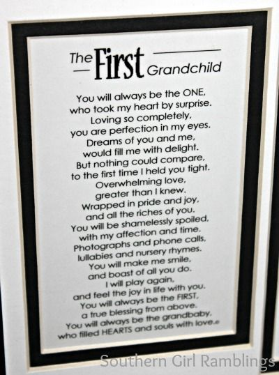 Mothers Day Gift Idea My First Grandchild Frame