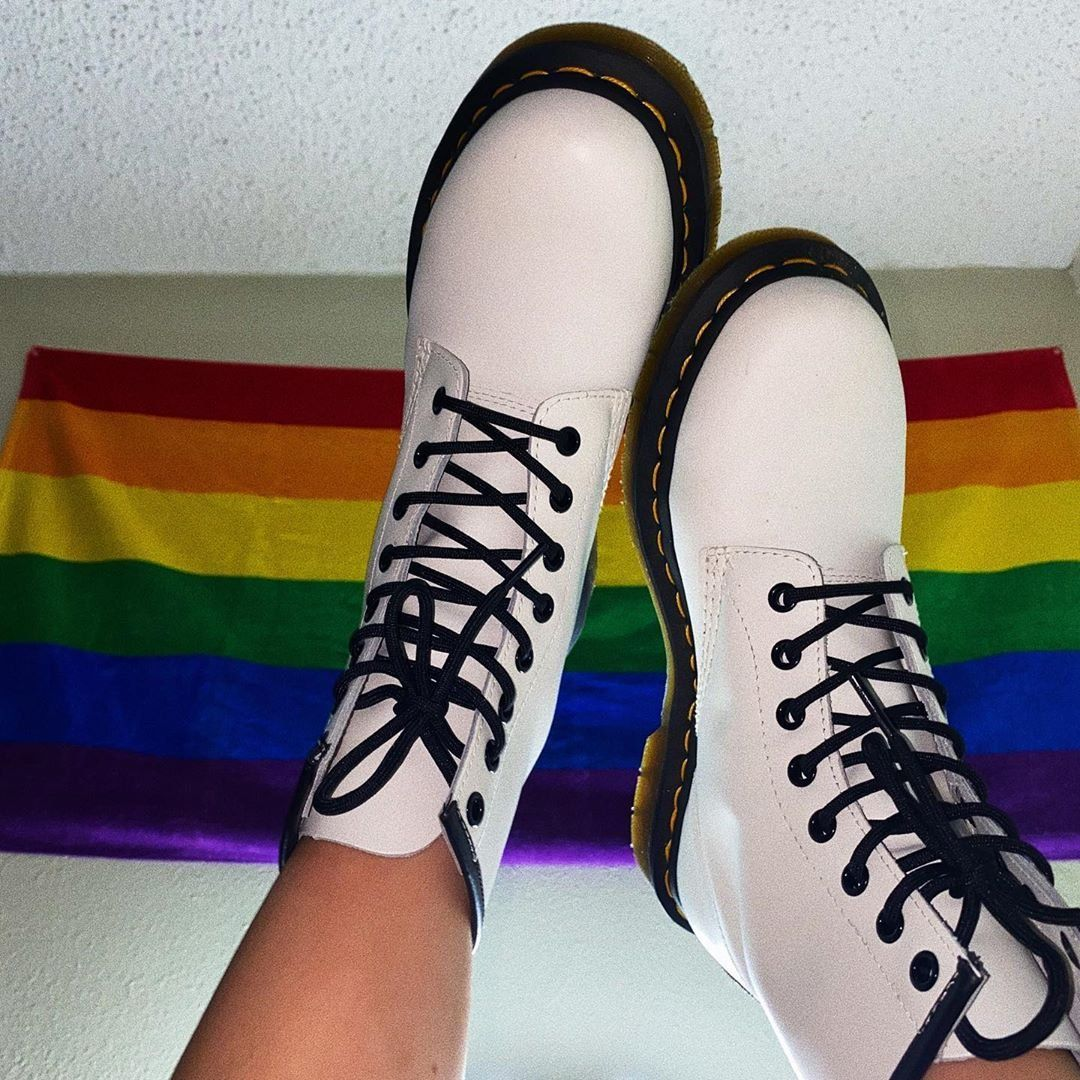Womens Dr Martens 1460 8 Eye Boot White Boots Classic Heels Martens